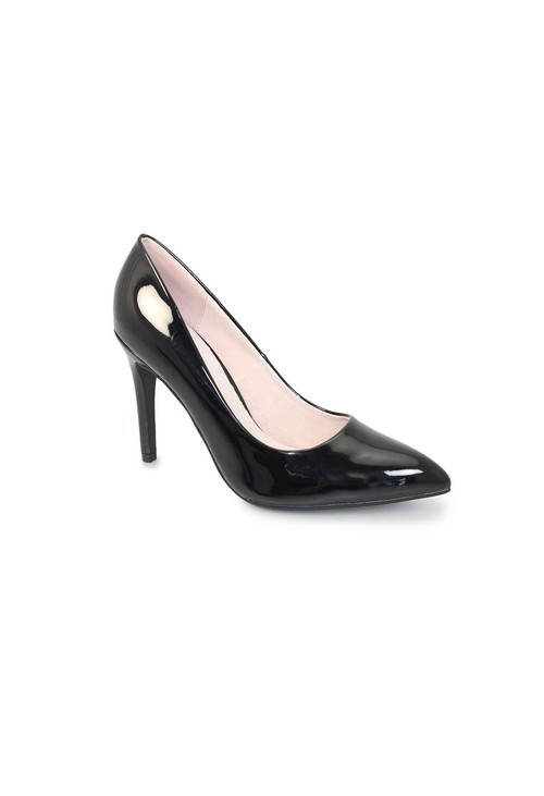 Lunar Black Patent Court Shoe