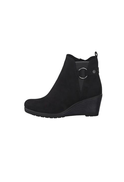 Marco Tozzi Black Microfibre Plain Boot