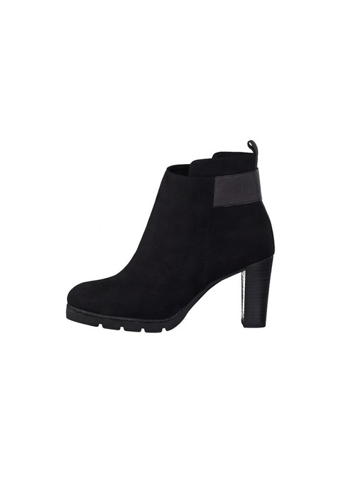 Marco Tozzi Black Heeled Boot