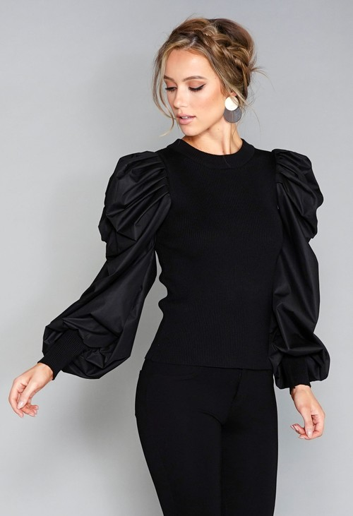 Pamela Scott Puff Sleeve Top