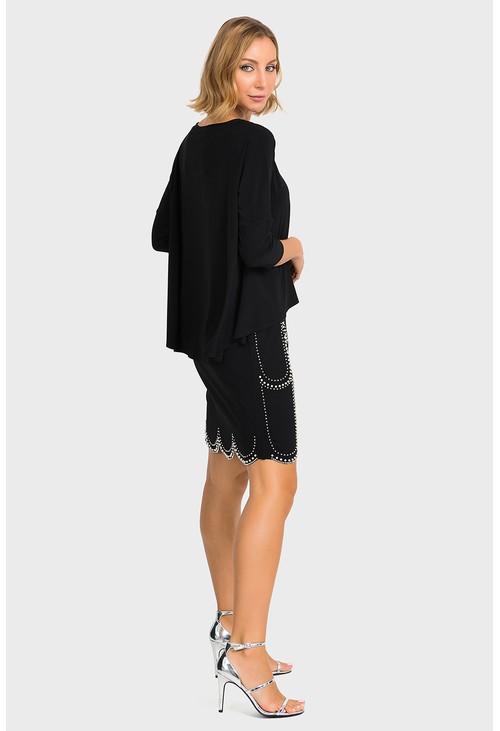 Joseph Ribkoff Black Pearl Detail Classic Dress