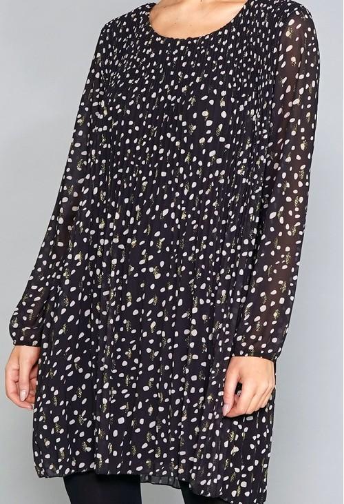 Pamela Scott Black Print Tunic Dress