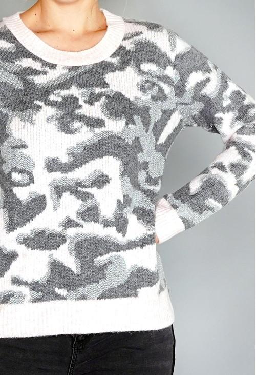 Twist Pink Camoflage Knit