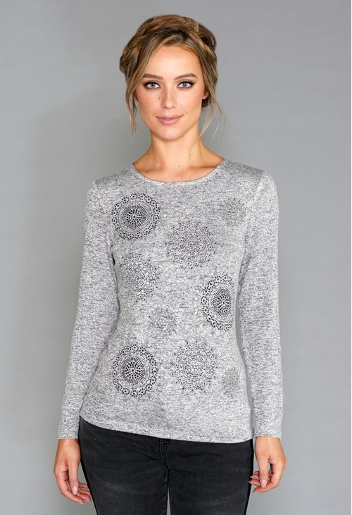 Sophie B Grey Soft Touch Top