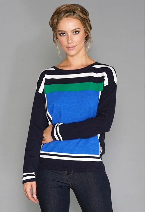 Betty Barclay Colour Block Jumper
