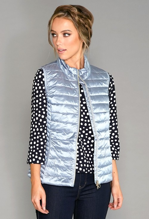Betty Barclay Light Blue Quilted Gilet