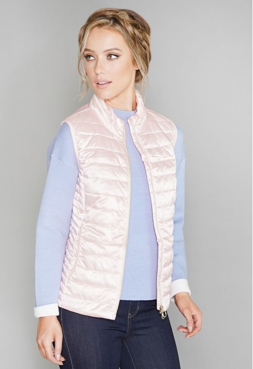 Betty Barclay Pink Quilted Gilet