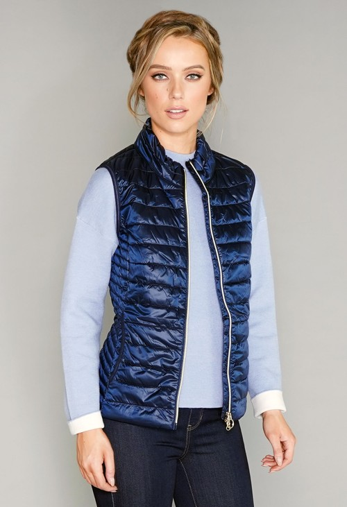Betty Barclay Navy Quilted Gilet