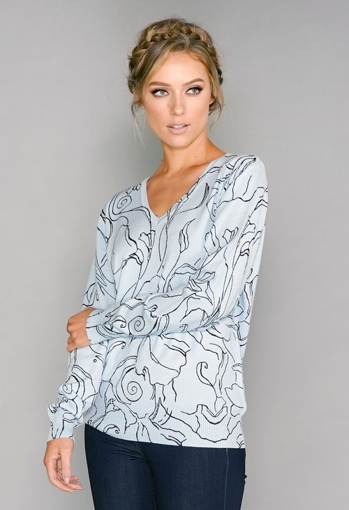 Pamela Scott Printed Pullover