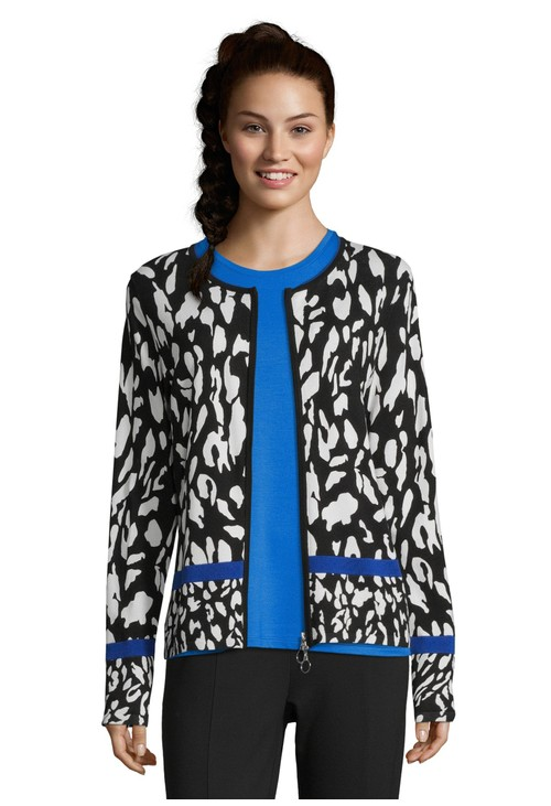 Betty Barclay Printed Fine Knit Cardigan