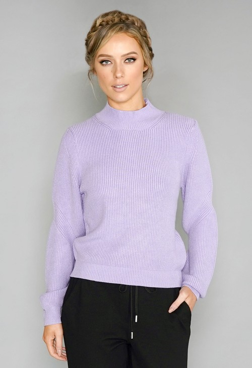 Twist Lilac Knit Jumper