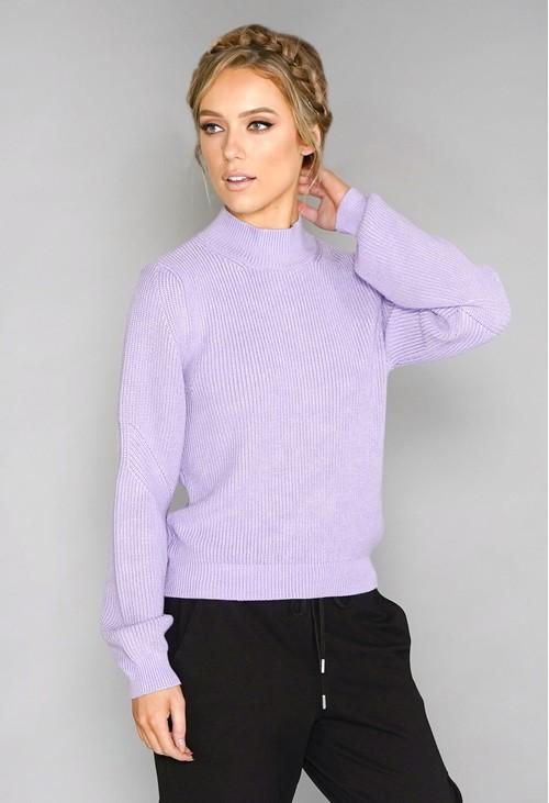Twist Lilac Knit Jumper