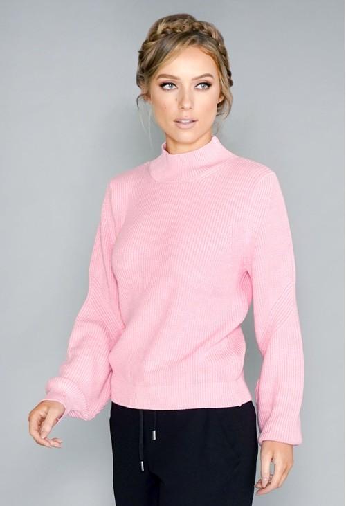 Twist Pink Knit Jumper