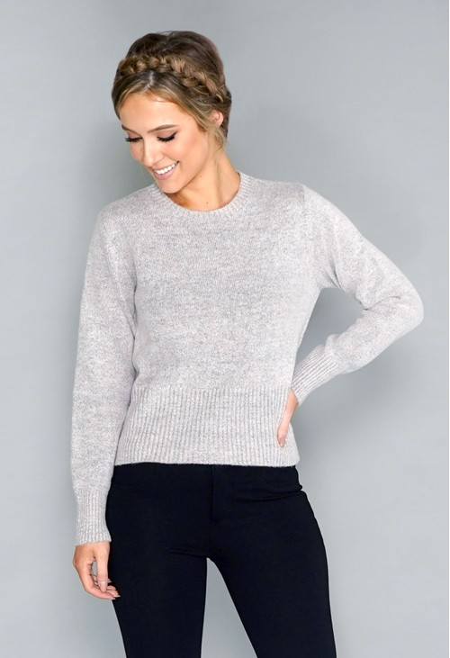 Twist Grey Soft Touch Jumper