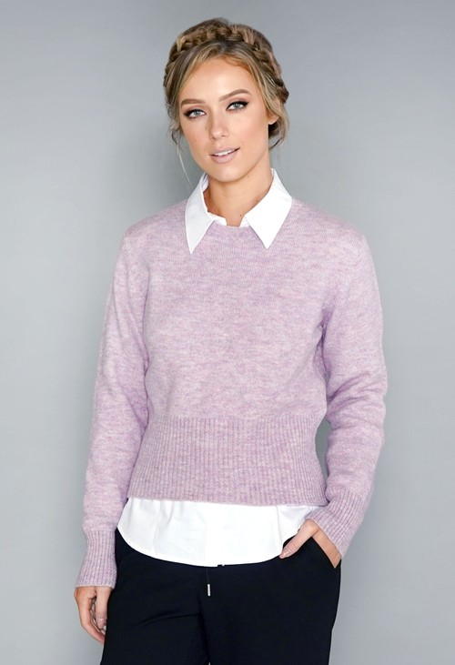 Twist Lilac Soft Touch Jumper