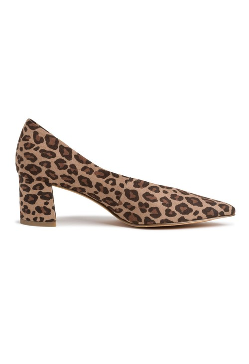 Marco Tozzi Low Heel Leopard Print Micro Fibre Court Shoe