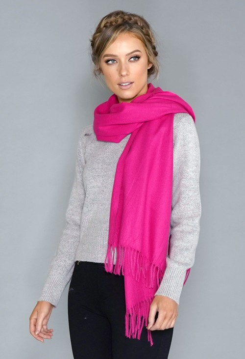 Pamela Scott Fuschia Soft Feel Scarf