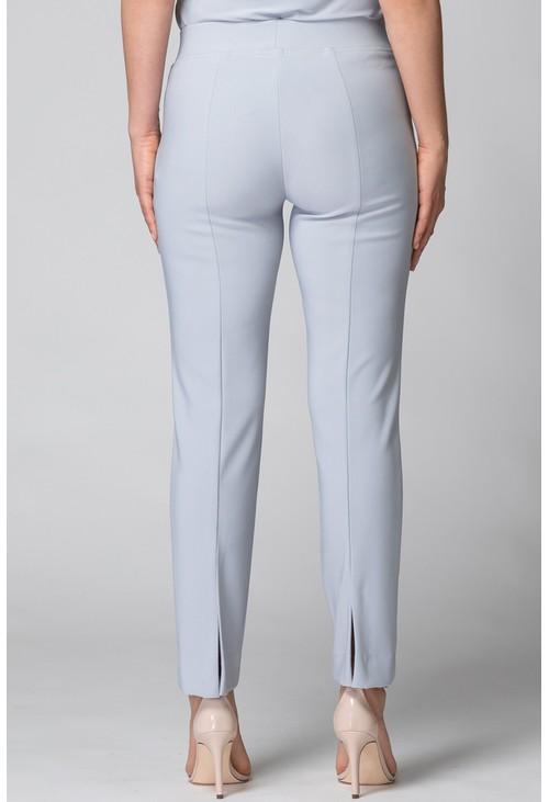Joseph Ribkoff Silver Split Hem Trousers
