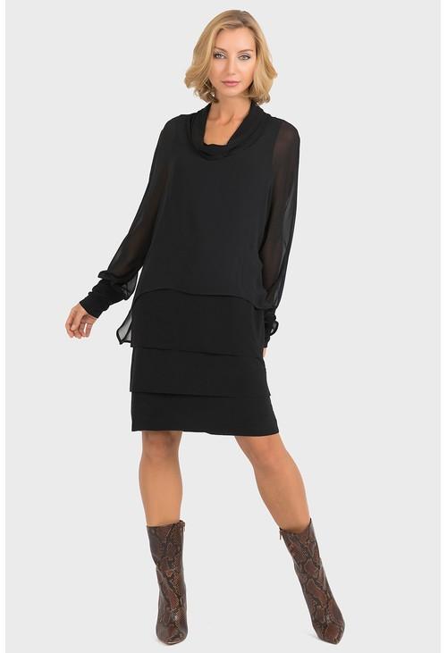 Joseph Ribkoff Sheer Overlay Dress