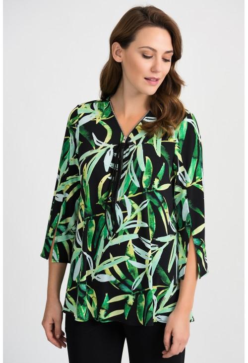 Joseph Ribkoff Leaf Print Tunic