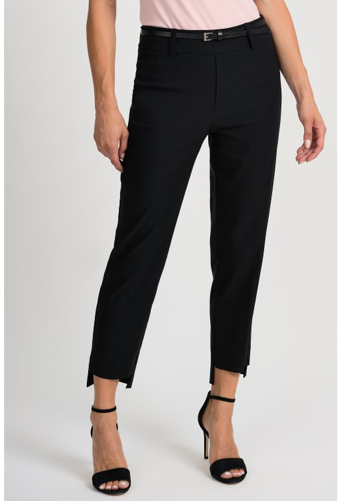 Joseph Ribkoff Black Cropped Trousers