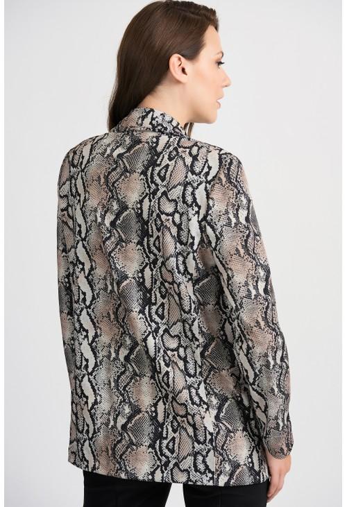 Joseph Ribkoff Snake Print Jacket