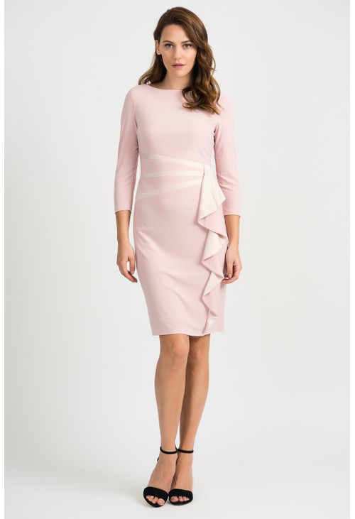Joseph Ribkoff Rose Frill Detail Dress