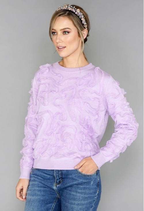 Pamela Scott Lilac Lace Design Knit