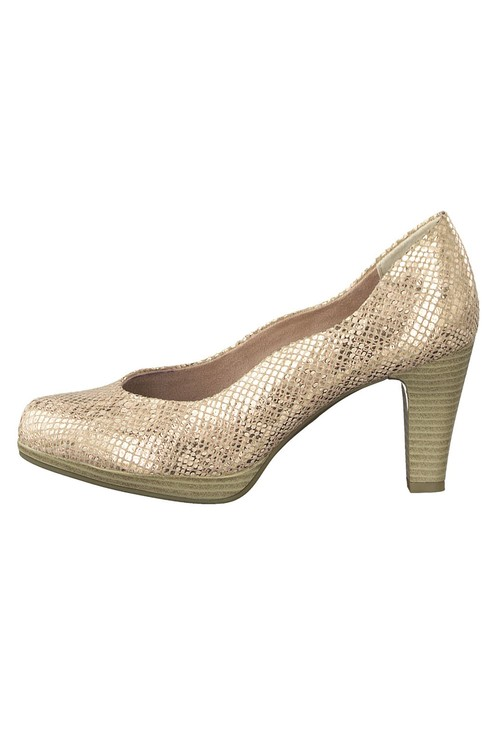 Marco Tozzi Rose Gold Metallic Heel