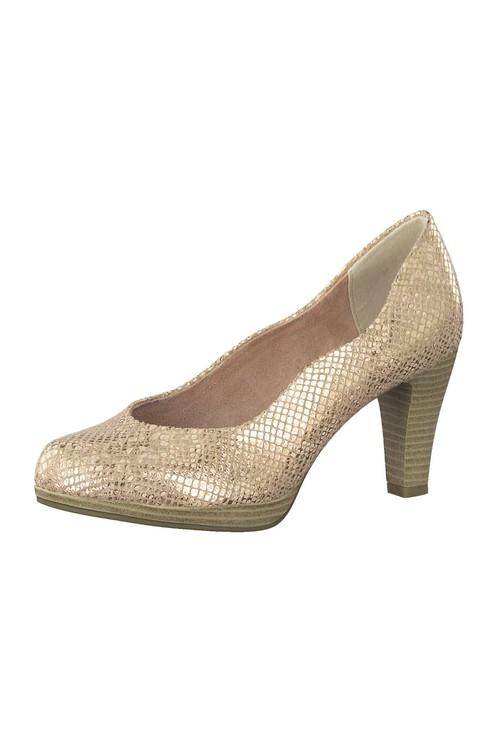Marco Tozzi Rose Gold Metallic Heel