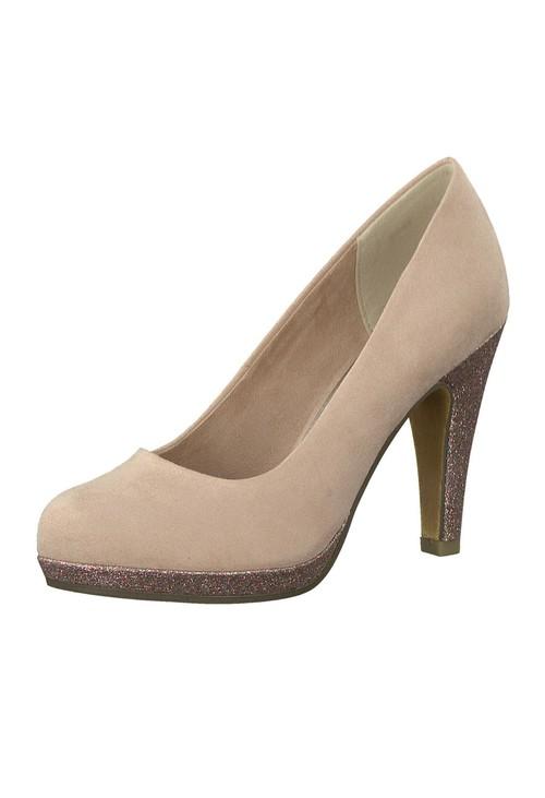 Marco Tozzi Blush Pink Glitz Heels