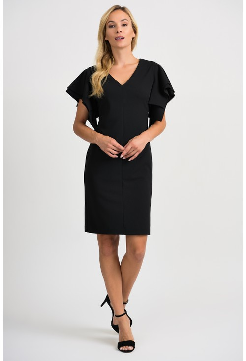 Joseph Ribkoff Cape Sleeve Dress