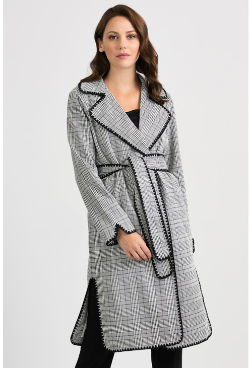 Joseph Ribkoff Plaid Coat