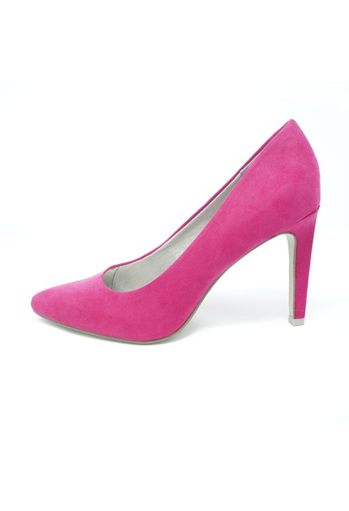 Marco Tozzi High Heel Pink Micro Fibre Court Shoe