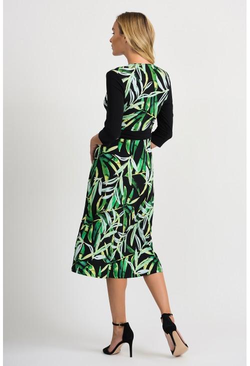 Joseph Ribkoff Leaf Pattern Dress