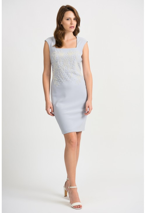 Joseph Ribkoff Pearl Drop Detail Dress