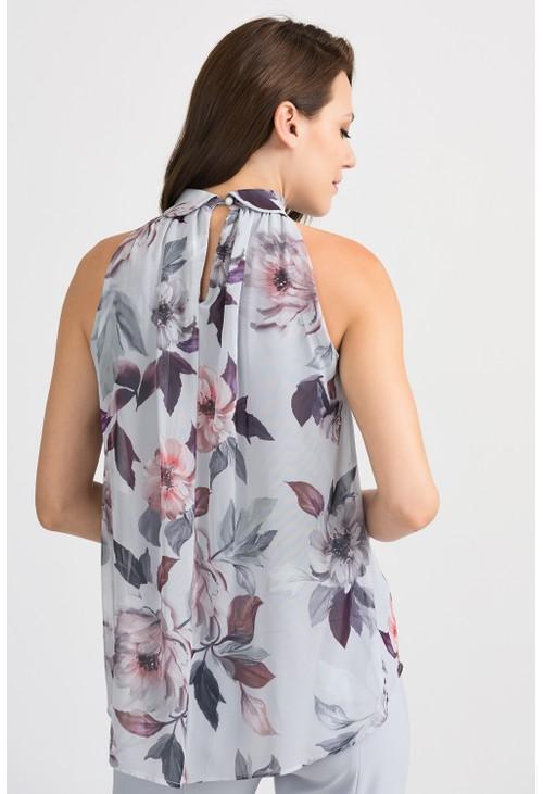 Joseph Ribkoff Sleeveless Floral Blouse