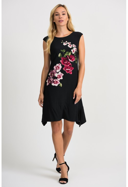 Joseph Ribkoff Floral Placement Print Dress