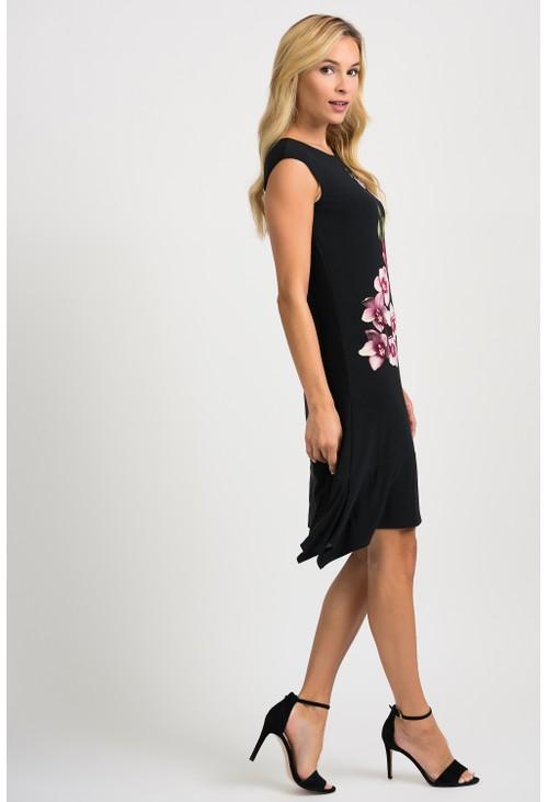 Joseph Ribkoff Floral Placement Print Dress