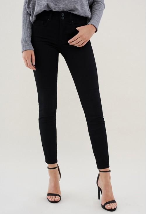 Salsa Jeans PUSH IN SECRET SKINNY SHORT LEG TRUE BLACK JEANS
