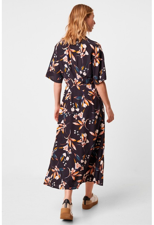 French Connection ELVIA FLORAL PRINT SHIRT DRESS