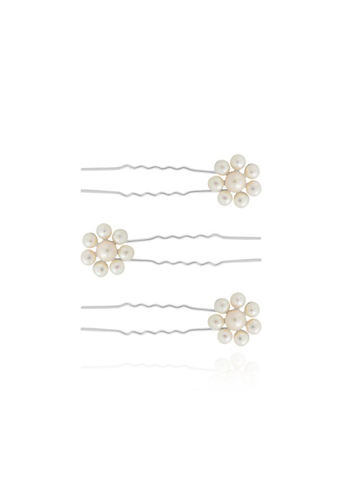Joma HAPPY EVER AFTER HAIR ACCESSORIES | PEARL FLOWER HAIR PINS