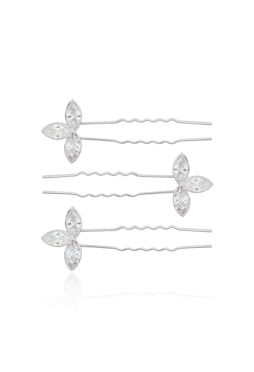 Joma HAPPY EVER AFTER HAIR ACCESSORIES | CRYSTAL LEAF HAIR PINS