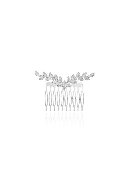 Joma HAPPY EVER AFTER HAIR ACCESSORIES | CRYSTAL LEAF HAIR COMB