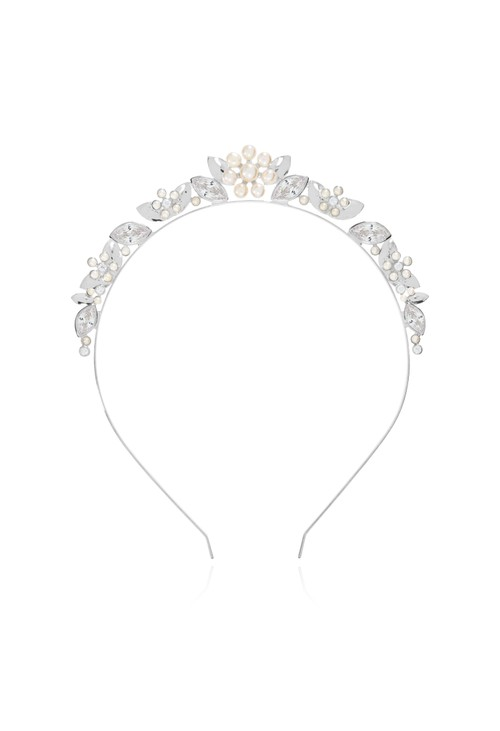 Joma HAPPY EVER AFTER HAIR ACCESSORIES | PEARL FLOWER AND CRYSTAL HAIR BAND