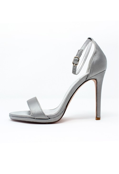 Pamela Scott Grey Barely There Sandals