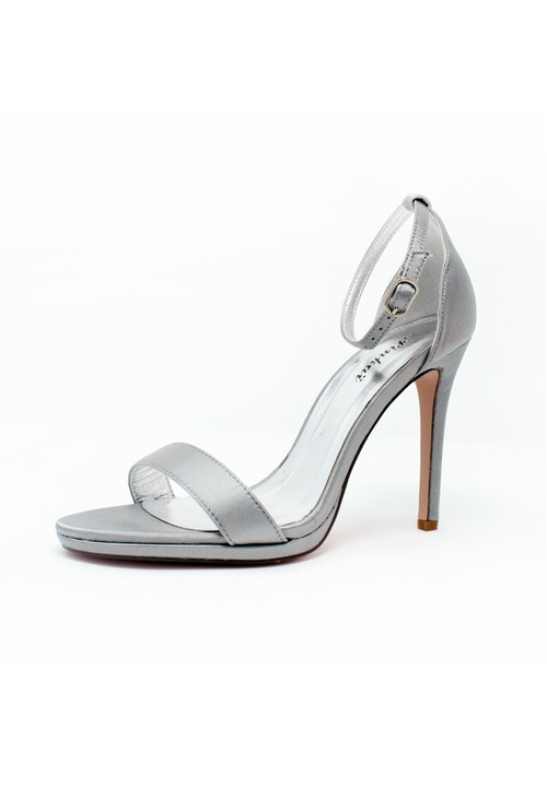 Pamela Scott Grey Barely There Sandals