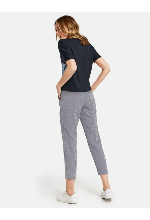 Gerry Weber Trousers with Gingham Checks