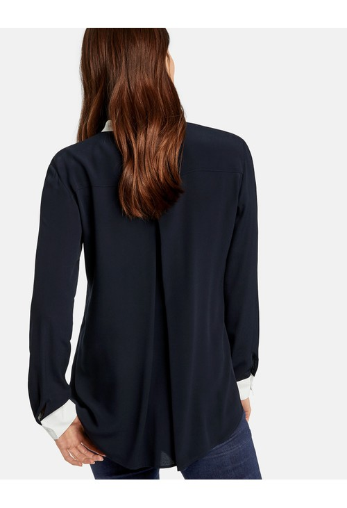 Gerry Weber Long sleeve blouse with contrasting edges