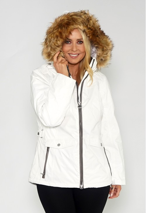 Pamela Scott White Waterproof Jacket